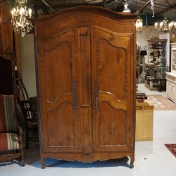 C19th Walnut  Armoire