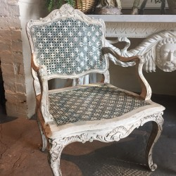 One of Pair of 18th Century French Louis XV Armchair