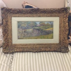 C1900 French Oil on Canvas...