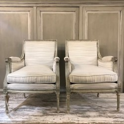 C19th French Pair of Fauteuils