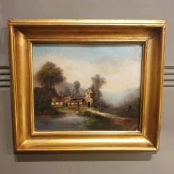 C1900 French Oil on Canvas
