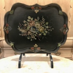 C1940 Paper Mache Tray with...