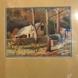 C1927 French Water Colour...