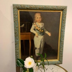 C18th French Oil of a Child