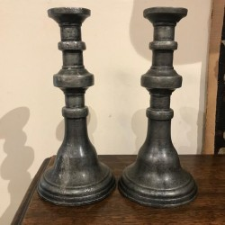 Late C18th Pewter Candlesticks