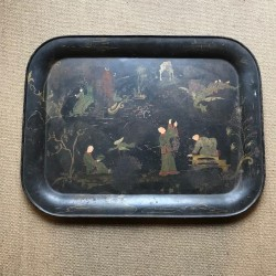 C19th Hand Painted Tin Tray