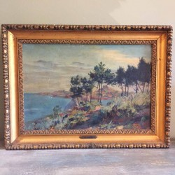 C1900 Signed Oil on Board...