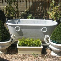 C19th Carrara Marble Bath Tub