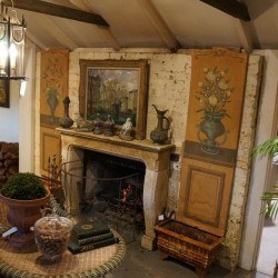 C18th French painted Panel