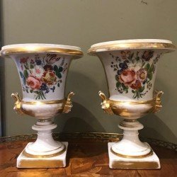 C1900 Pair of Porcelain Urns
