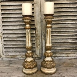 C18th Pair of Candleholders