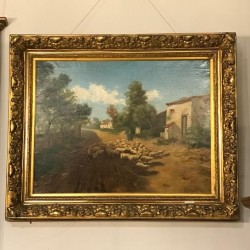 C19th French Oil on Canvas