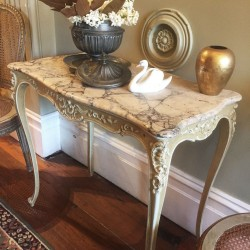 19th Century French Table with Marble Top
