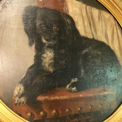 C19th Oil of a Dog