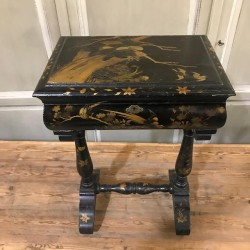 C19th Chinoiserie Sewing Table
