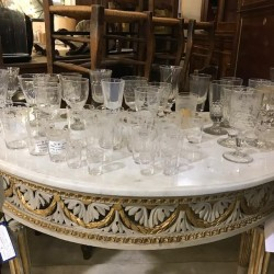 French Antique Assorted Glass